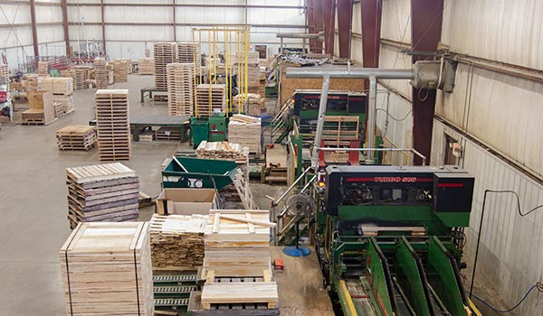 Facility photo of Viking Turbo 505 making pallets.